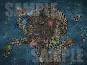 Magical water forge D&D battle map encounter