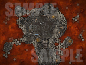 Lava forge D&D encounter map