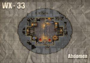 Warforged colossus abdomen battle map, one of six maps
