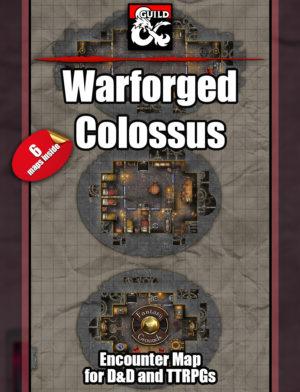 Warforged colossus mega D&D Eberron battle map
