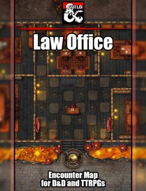 Law office battle map set for D&D