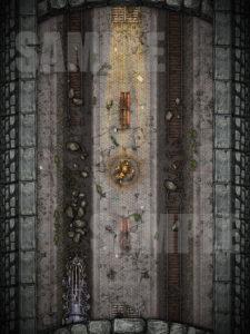Abandoned metro station D&D battlemap