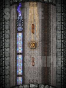 Eberron lighting train battle map for D&D