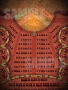 Opera house battle map encounter for D&D