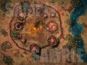 Orc camp battle map for D&D and Pathfinder