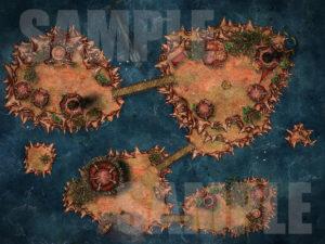 Orc islands battle map for D&D