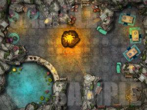 Beauty goddess temple battle map encounter for D&D