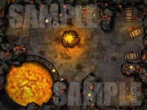 Evil torture temple battle map for D&D