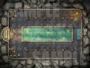 Shrine to Sune battle map for D&D