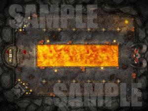Evil demonic temple battlemap for D&D