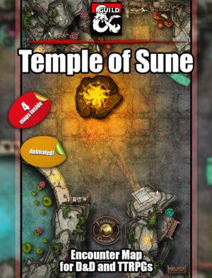 Temple of Sune battlemap for D&D