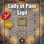 Lady of Pain Sigil battle map pack for D&D