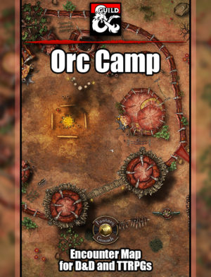 Orc camp battle map for Fantasy Grounds Unity