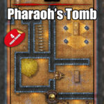 Pharaoh's tomb battle map cover with fantasy grounds support