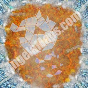 Shattered ice floor battle map DD&