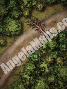 Ambush D&D battle map