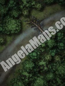 Ambush D&D battle map (night)