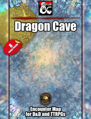D&D Dragon cave battle map encounter