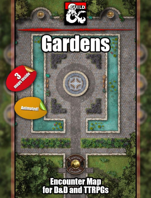 Gardens battle map cover from Angela Maps