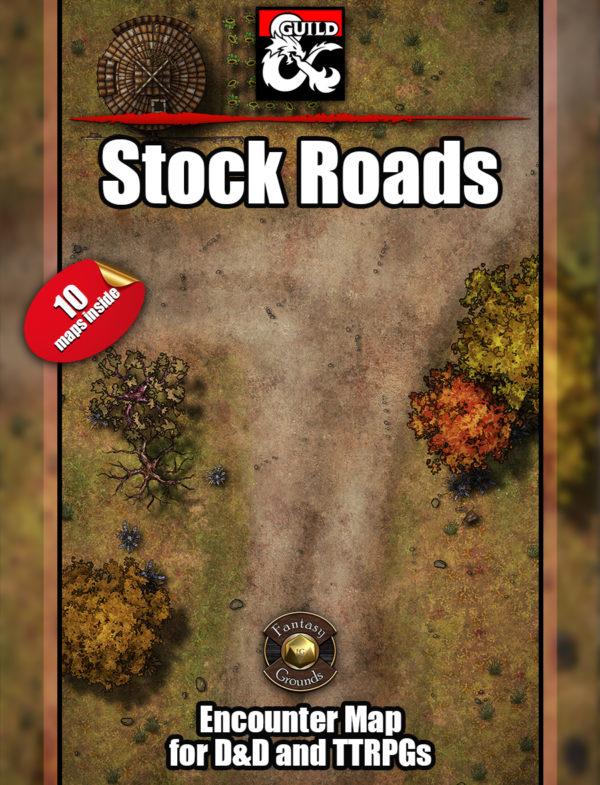 D&D Stock roads battle maps - 10 D&D maps