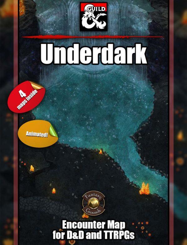 D&D underdark battle map set