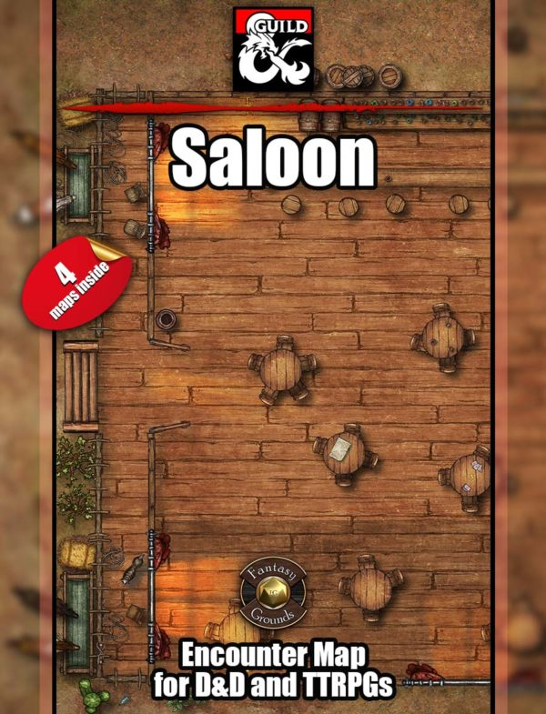 Saloon battle map for D&D and pathfinder