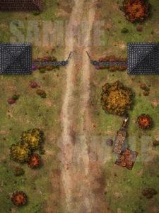 City gate d&d battlemap