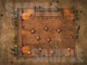 Saloon battle map for D&D